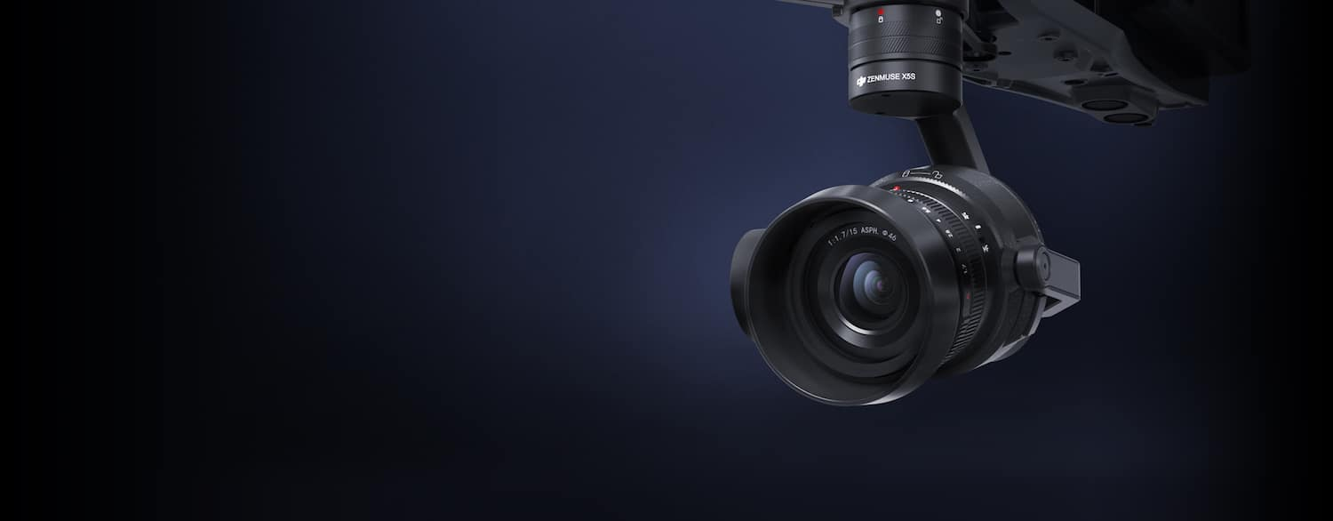 Zenmuse X5S 5.2K 20MP with 15mm f/1.7 lens »